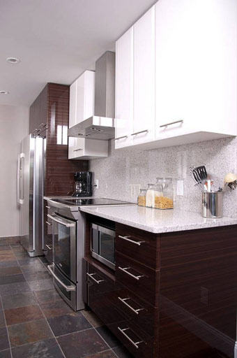 Panduan ubahsuai kediaman kitchen cabinet design for Single wall kitchen designs